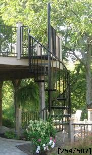 52u201d Diameter Steel Standard Spiral Stair Kit
