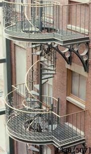 Commercial Fire Escape Stairs Spiral Staircase Fire