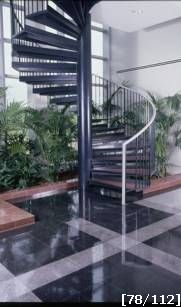 stainless steel railing spiral staircase