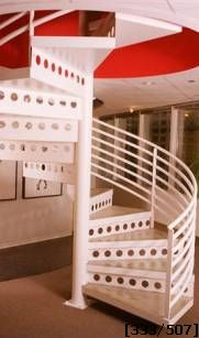 space saving steel spiral staircase