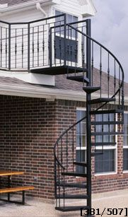 wrought iron outdoor spiral staircase