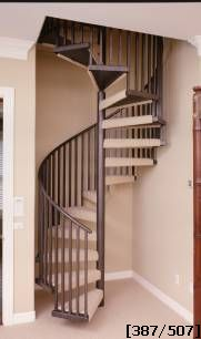 carpeted home spiral staircase